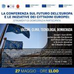 La conferenza sul futuro dell'Europa e le iniziative dei cittadini europei