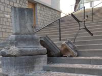 Agnone, sfregiata la croce stazionaria della scalinata Totaro