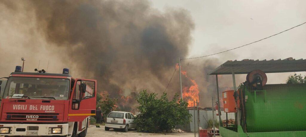 San Martino nella morsa del fuoco