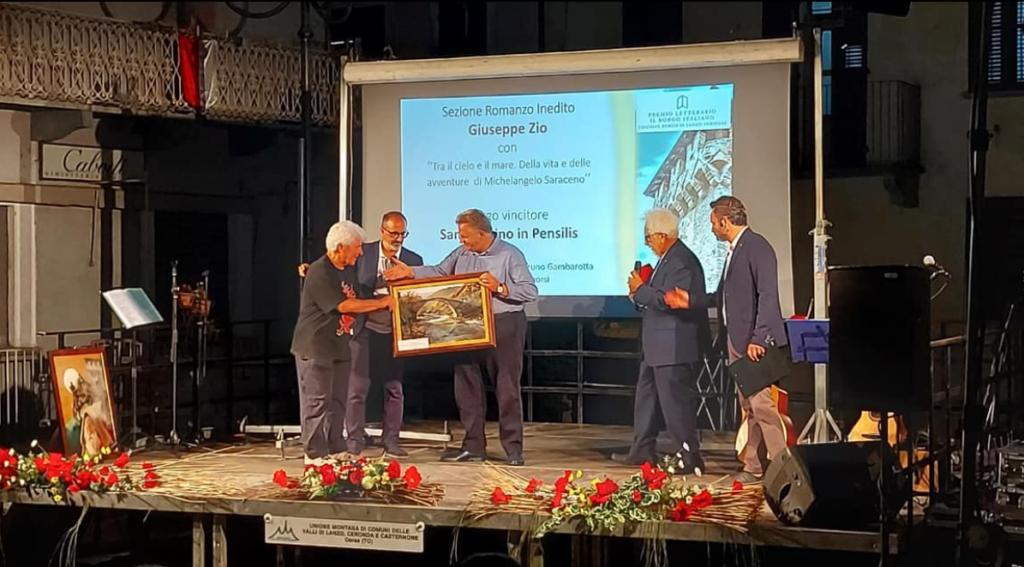 """Giuseppe Zio, Primo assoluto al Premio Letterario """"il Borgo Italiano"""""""