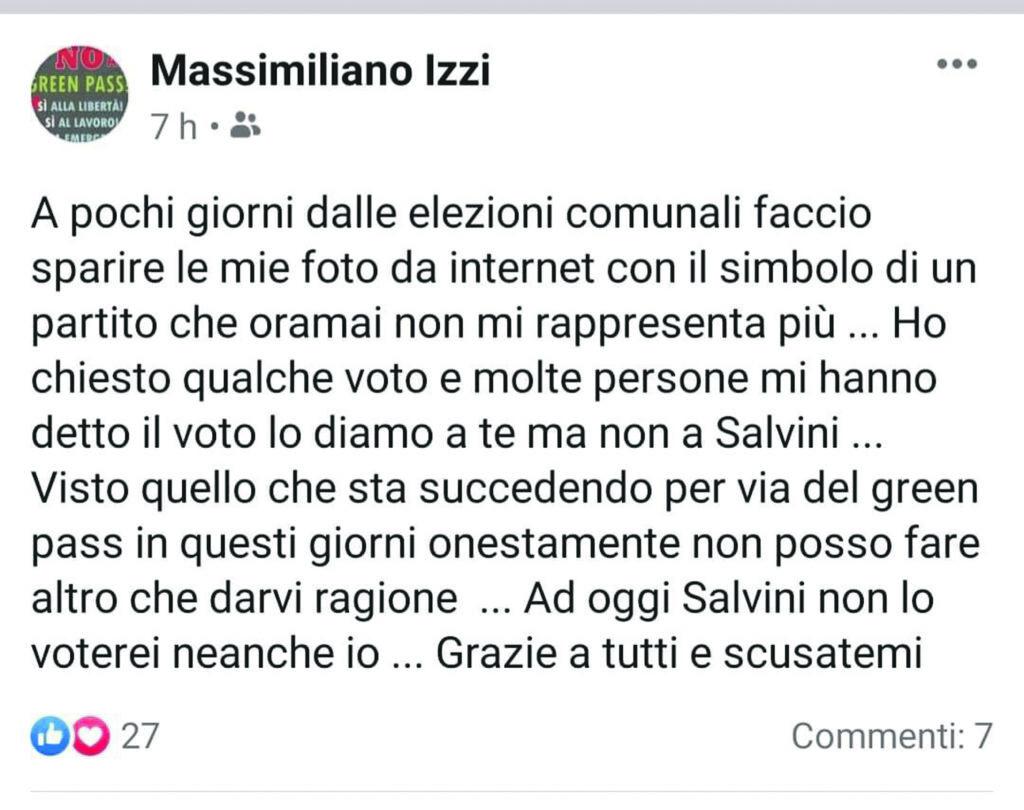 Leghisti divisi: il candidato in corsa che rinnega Salvini