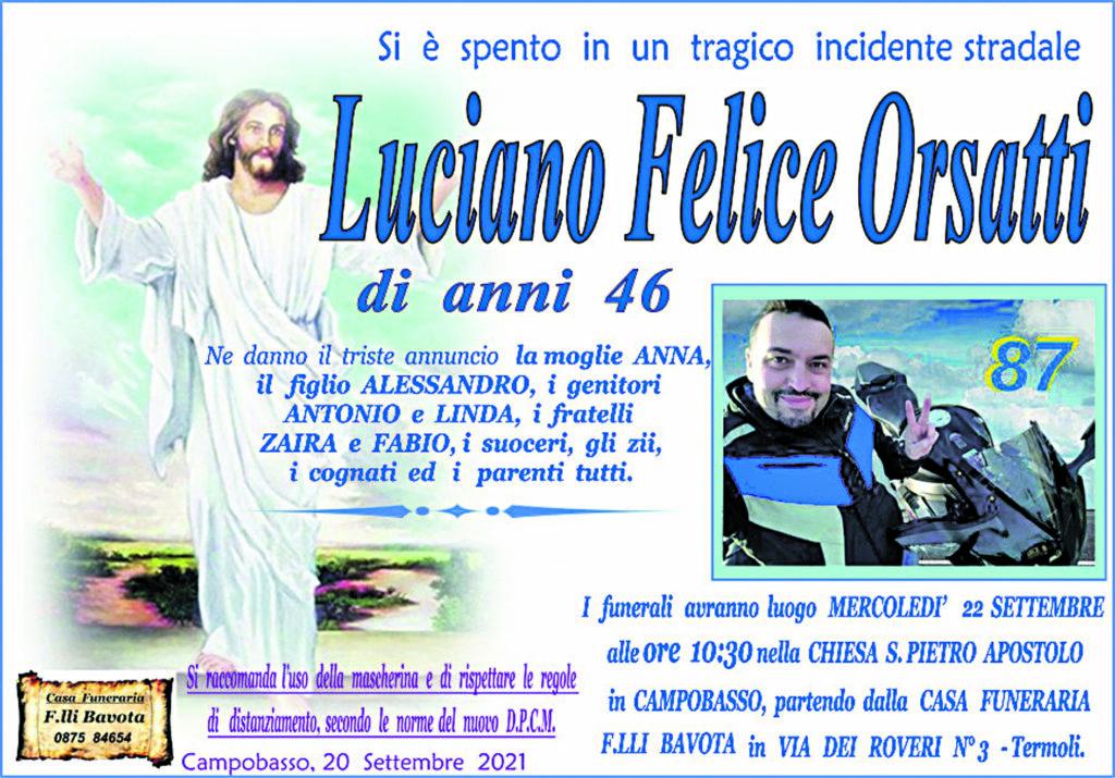L'ultimo saluto a Felice, oggi a Campobasso i funerali del 46enne